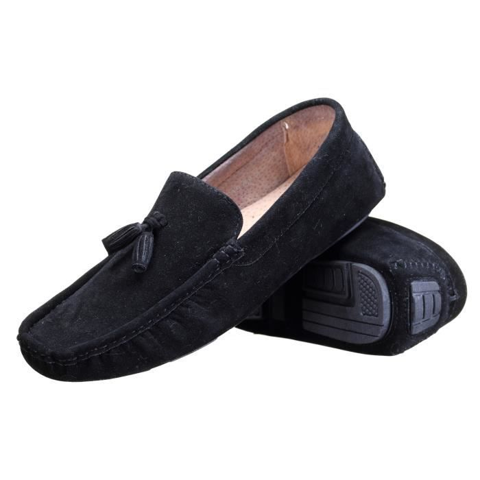 Chaussure Reservoir Shoes Walter Moccassin Noir