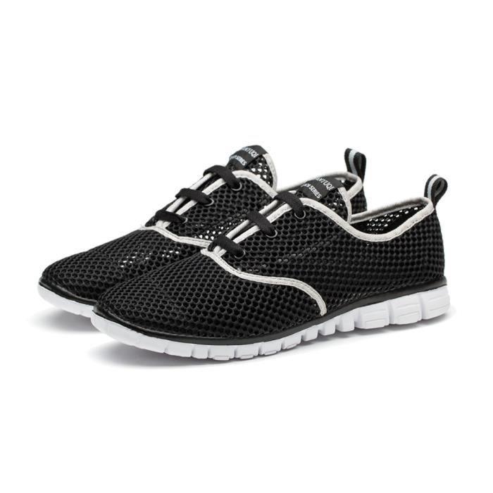 Chaussures de sport Homme Confortable Durable Basket 2017 nouvelle marque de luxe chaussure Meilleure Qualité Nouvelle Mode noir D29UdOJg