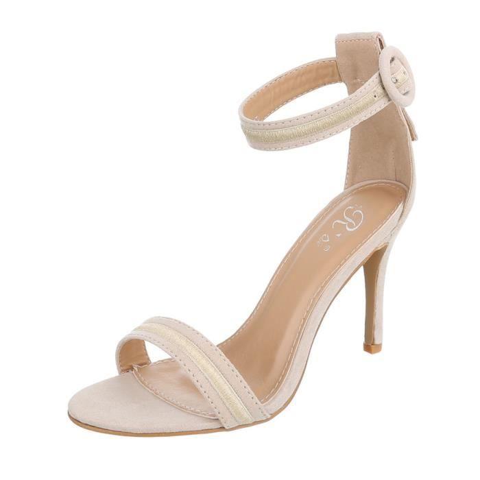 959a8ad0031 Chaussures femme sandale à talons hauts High Heels escarpin Beige 41 ...