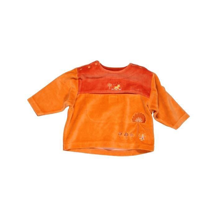 e6fce1724cfeb Pull bébé fille ABSORBA 6 mois orange hiver - vêtement bébé #1006976 ...