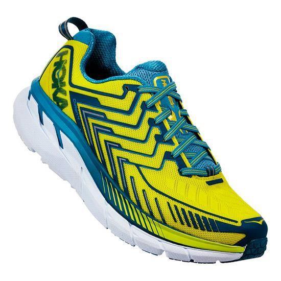 Chaussures Hoka One One Clifton 4 jaune bleu