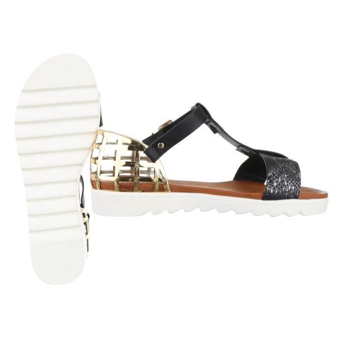 femme sandale chaussure chaussures d'été chaussures de plage confort escarpin noir