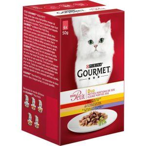 GOURMET Mon petit duo viande - Pour chat - 6x50g