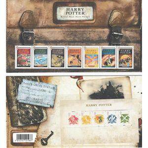 ALBUM - CLASSEUR  Timbres Harry Potter, Packs de présentation, Mini