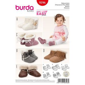 PATRON - TUTORIEL Patron Burda 9396 Kids Chaussons pour bébé