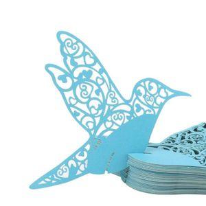 MARQUE-PLACE  50x Marque Place Papillon cœur oiseau Mariage Cart