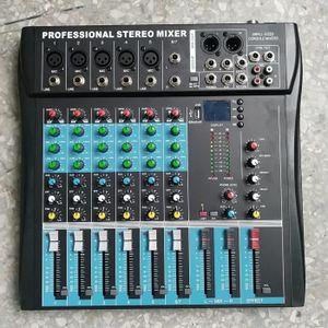 TABLE DE MIXAGE LESHP® Console de mixage stéréo professionnelle 6