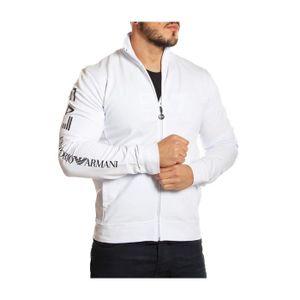 374b36b06c0dd EMPORIO ARMANI - EA7 - Sweat Zippé pour Homme 6P208 (blanc - S ...