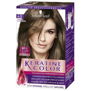 COLORATION SCHWARZKOPF Keratine coloration chatain clair 6.0