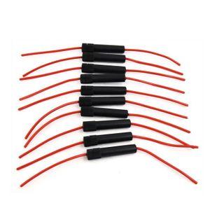POIGNÉE DE RUCHE 10pcs vis noir Fil Rouge Capuchon type porte fusib
