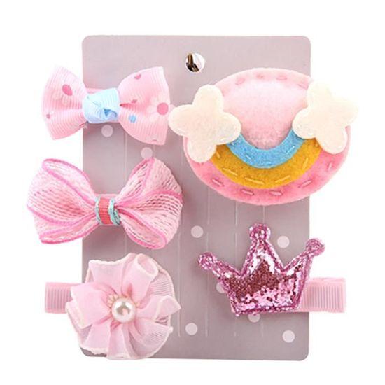 f723443428aa3 Deessesale®5pcs enfants épingle bébé dessin animé motif animaux Clip  cheveux ensemble ZJW11166888
