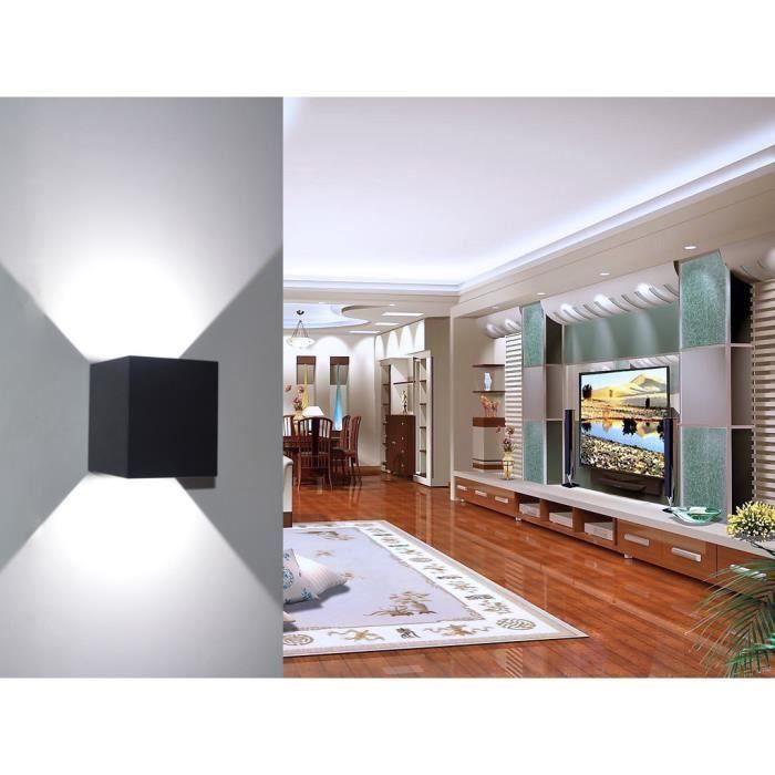 AIHONTAI® 7W Imperméable aluminium cube COB LED applique murale ...