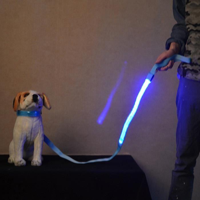 Hot Cakes Pet Led Glow Corde Tirage Lumière Chien Collier De Pour Qys115