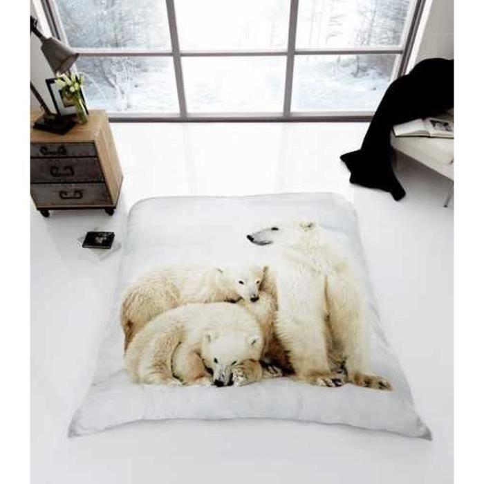 superbe couverture plaid ours polaire luxury fleece blanket fausse fourrure lit double 150cm x. Black Bedroom Furniture Sets. Home Design Ideas