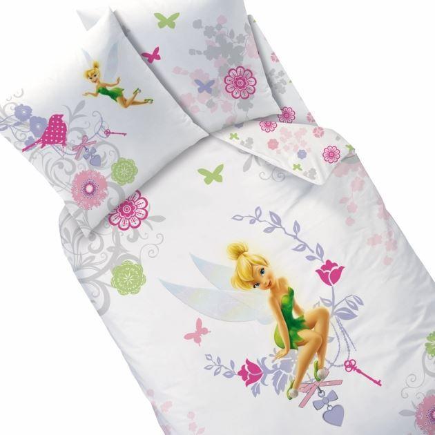 linge de lit fee clochette DISNEY FAIRIES Parure de Lit Arabesque 140 cm   Achat / Vente  linge de lit fee clochette
