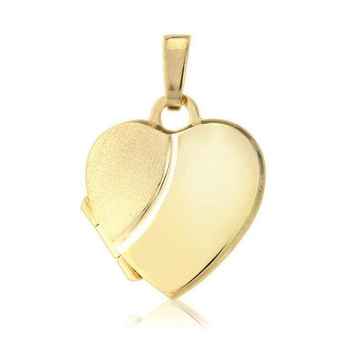Jewelco London Dames Or Jaune 9k medaillon pendentif