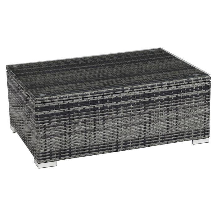 Table basse de jardin en resine gris - Achat / Vente pas cher