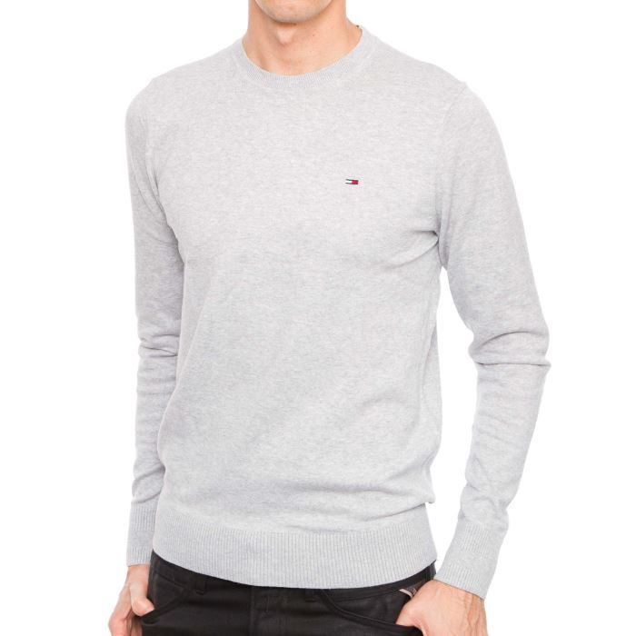 49ab8d2e29b31 Pull TOMMY HILFIGER Tamber Gris... Gris - Achat   Vente pull ...
