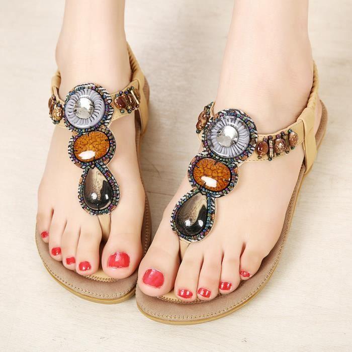 des sandales femmes Bohême suède CgtfPJyAhO