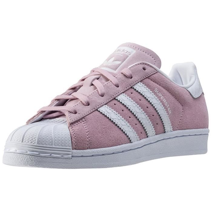 meilleure sélection 3e470 79afd Baskets adidas Superstar W Suede, Chaussures Femme rose Rose ...