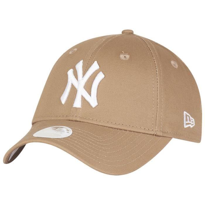 5daa79ea ... discount casquette new era 9forty damen cap new york yankees khaki  9ed0e f13f5
