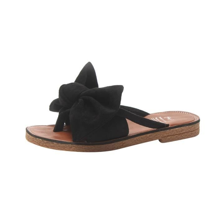 Talon Plat Plagenoir Slipper Solide Couleur Mode Chaussures De 8nkXwO0P