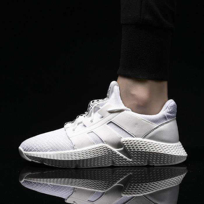 Chaussures Homme Poids Léger Respirant Course Baskets De Blanc tQshxdCrB