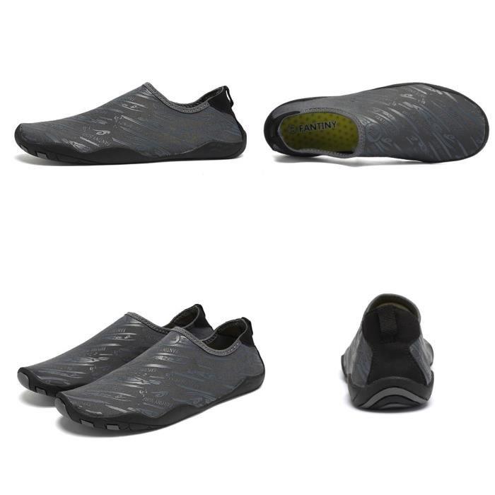 Pieds nus rapide à sec Sports nautiques Chaussures Aqua Avec 14 trous de drainage pour nager, Marche, Yoga, Lac, Bea ZIZY7 Taille-44