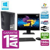 UNITÉ CENTRALE + ÉCRAN PC Dell 790 DT Intel G630 16Go Disque 500Go Graveu