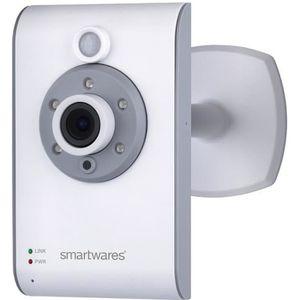 SMARTWARES Caméra de surveillance IP sans fil connectée HD 720P LAN/Wi-Fi pour intérieur C733IP