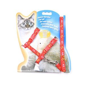 HARNAIS ANIMAL Nylon Pet Chat Kitten Harnais réglable Laisse en p