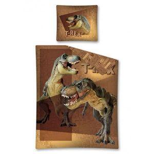 PARURE DE DRAP Parure de lit Dinosaure T-Rex Marron