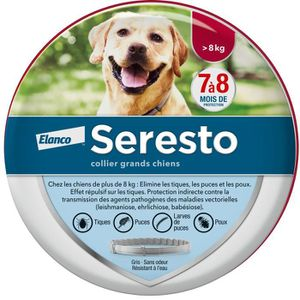 ANTIPARASITAIRE SERESTO Collier antiparasitaire - Pour grand chien