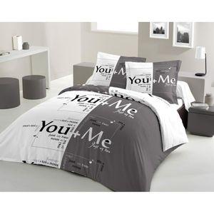 housse de couette achat vente housse de couette pas cher cdiscount. Black Bedroom Furniture Sets. Home Design Ideas