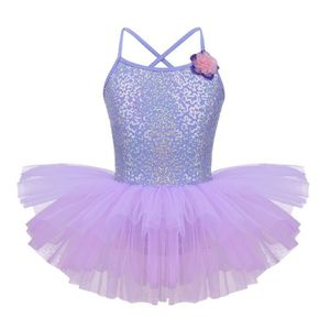 44675ff4d58 JUPETTE DE DANSE Robe de Danse Ballet Tutu Paillettes Fleurs Fille