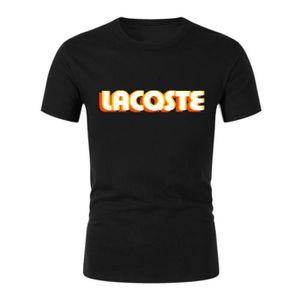 6c694db072 T-SHIRT Tee Shirt Homme Imprimé de lettre LACOSTE Manches
