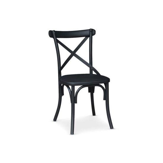 Chaise Design En Métal Vindi Noir Mat Achat Vente Chaise Black
