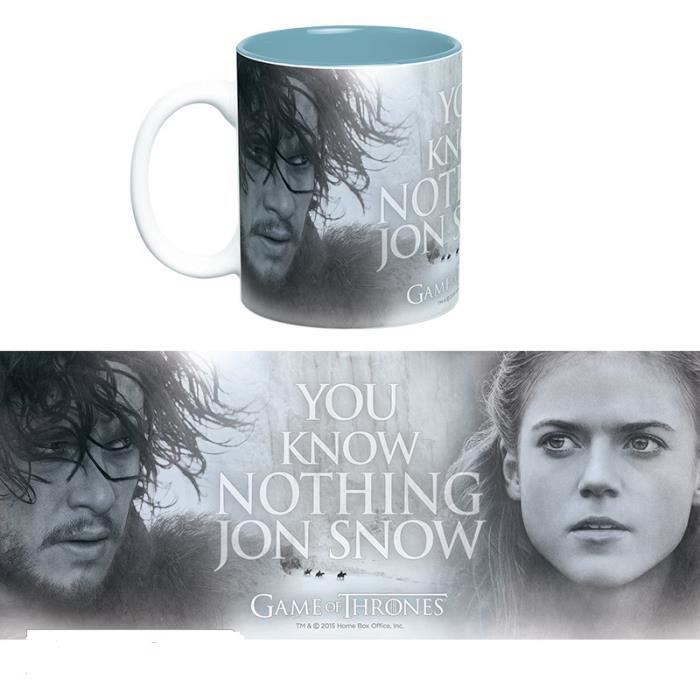 Mug Games Of Thrones - 460 ml - You Know Nothing - avec boite - ABYstyle