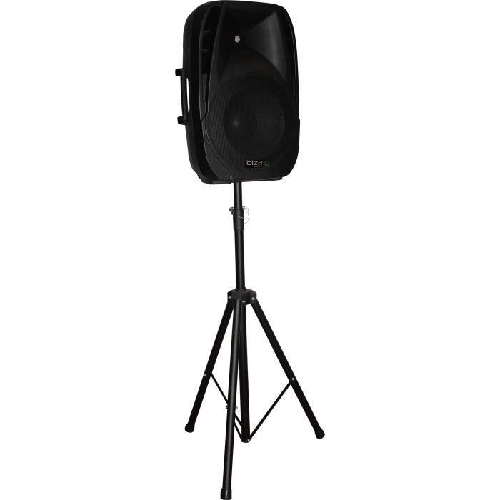 """IBIZA BT15A-PACK Enceinte active portable 15""""/38cm-500W avec lecteur USB/SD/Bluetooth"""