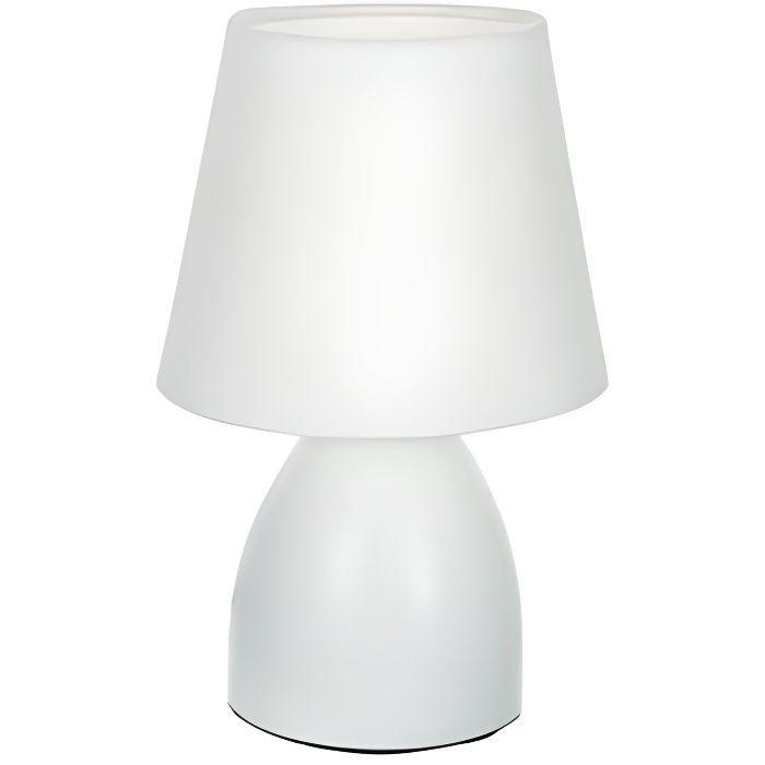 lampe de chevet pied en m tal blanc achat vente lampe. Black Bedroom Furniture Sets. Home Design Ideas