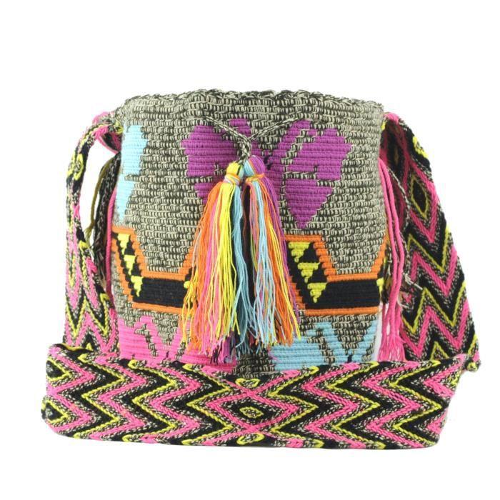 Wayuu Sac - Grand Mochila - Design - Matisse - 2069 ULLLF