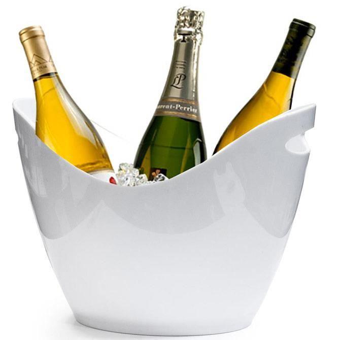 seau champagne 3 bouteilles pour champagne seau glace blanc achat vente seau. Black Bedroom Furniture Sets. Home Design Ideas