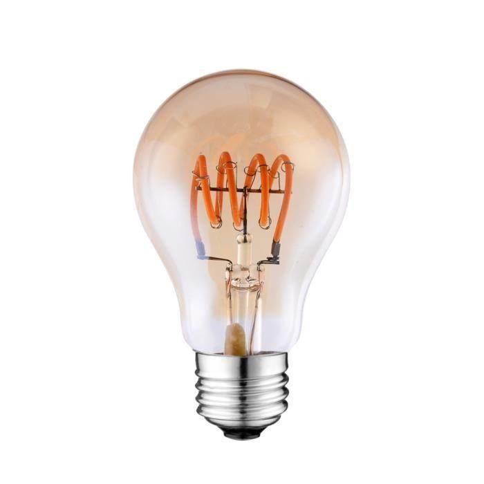 Filament Vintage Dimmable Spirale Gold 4w A60 Led E27 Ampoule Soft 2000k UFwqEgx6