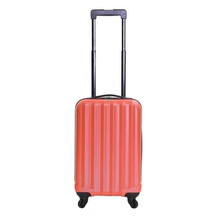 Karabar Monaco ABS Bagage Cabine Bagage à Main Valise Rigide Légere à 4 Roulettes, Approuvées pour Ryanair, EasyJet, Air France