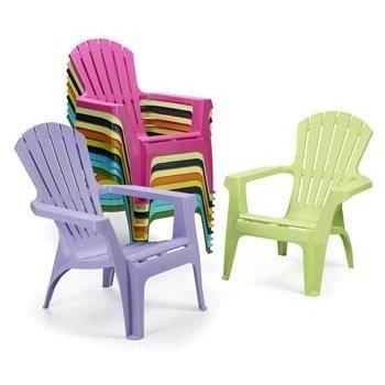 Lot 4 fauteuils plastique vert-anis DOLOMITE - Achat / Vente ...