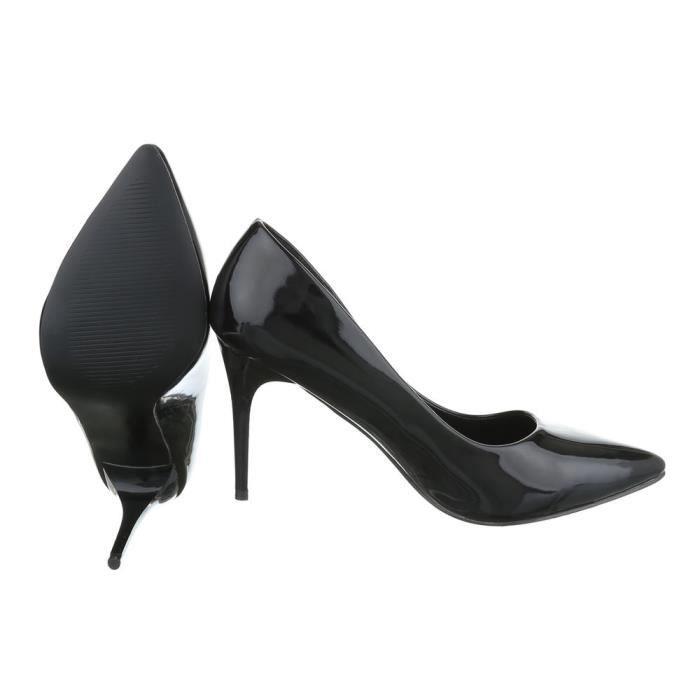 Femme chaussures escarpin High Heels noir 41