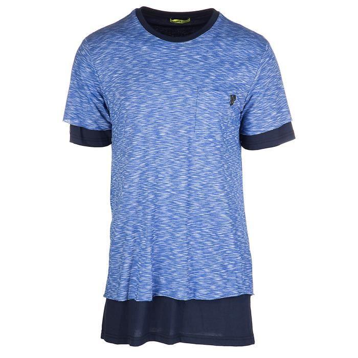 T-shirt manches courtes ras du cou homme jersey regular flame funaki Versace  Jeans 4de17de1c69