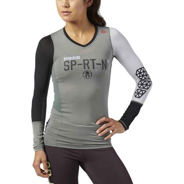 size 40 d99ef 5d120 T-SHIRT DE COMPRESSION Vêtements femme T-shirts thermiques Reebok Spartan
