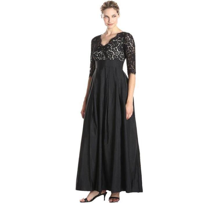 Femme à Rayures Froncé Soie Noire Dentelle Halter Taille Standard Slim Fit Stretch Longue Nouveau Vintage Charme Mystérieux