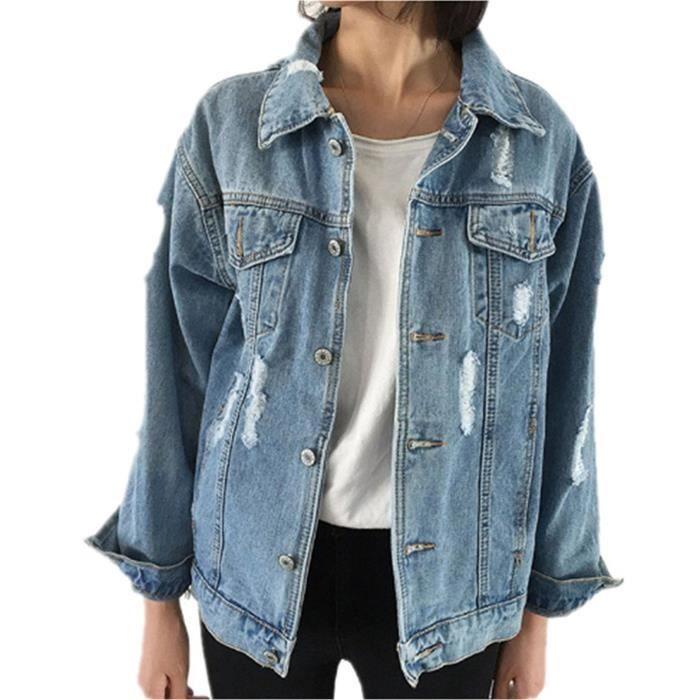 Veste Jeans Printemps Automne Femme Blouson En Et Tomwell wqRpwP1X